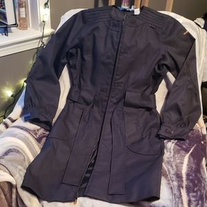Reebok winter zip trench coat size small